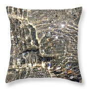 Ripples On The Sea Shore Throw Pillow