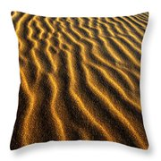 Ripples Oregon Dunes National Recreation Area Throw Pillow