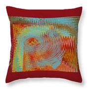 Rippling Colors No 1 Throw Pillow