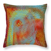 Rippling Colors No 2 Throw Pillow