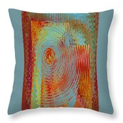 Rippling Colors No 3 Throw Pillow