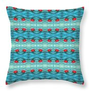 Rippling Red Maple Leaf Throw Pillow