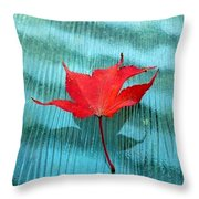 Rippling  Red Throw Pillow