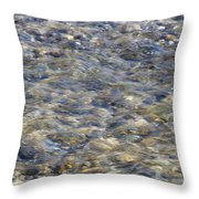 Rippling Water Over Rocks Throw Pillow