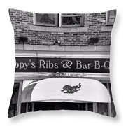 Rippy's Ribs And Bar Bq Throw Pillow