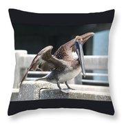 Pier Pelican Throw Pillow