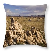 Rise Of Gneis Rock Formations Throw Pillow