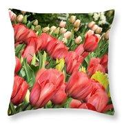 Rising Spring Throw Pillow