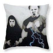 Rising Metallic Storm Throw Pillow