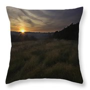 Rising Over The Hills Throw Pillow