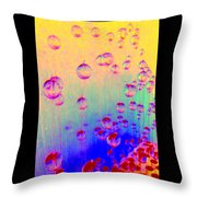 Rising Spheres Throw Pillow