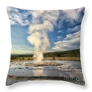Rising Steam Throw Pillow