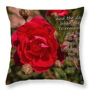 Risk To Blossom Throw Pillow