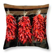 Ristras 1 Hatch New Mexico Throw Pillow