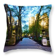 Rittenhouse Square Park Throw Pillow