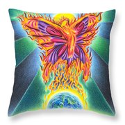 Ritual Of The Firefly Throw Pillow