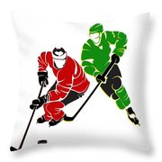 Rivalries Blackhawks And North Stars Throw Pillow