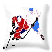 Rivalries Canadiens And Nordiques Throw Pillow