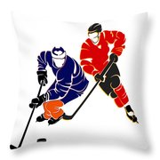 Rivalries Oilers And Flames Throw Pillow
