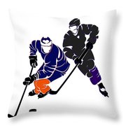 Rivalries Oilers And Kings Throw Pillow