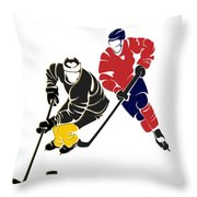 Rivalries Penguins And Capitals Throw Pillow