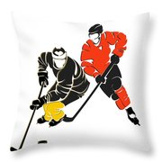 Rivalries Penguins And Flyers Throw Pillow
