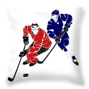 Rivalries Senators And Maple Leafs Throw Pillow