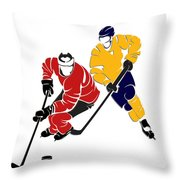 Rivalries Senators And Sabres Throw Pillow