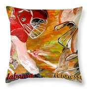 Rivals Face To Face 1 Throw Pillow by Mark Moore