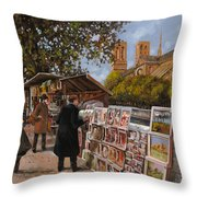 Rive Gouche Throw Pillow