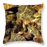 River Abstract Throw Pillow