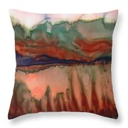 River Aflame Throw Pillow
