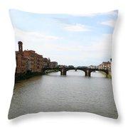 River Arno Throw Pillow