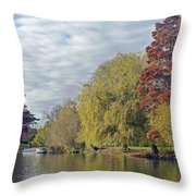 River Avon In Autumn Throw Pillow