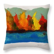 River Bank In Color Throw Pillow