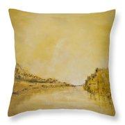 River Bank Slumber Throw Pillow