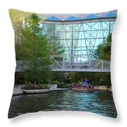 River Boating  Throw Pillow