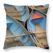 River Boats Throw Pillow