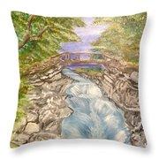 River Bridge Throw Pillow