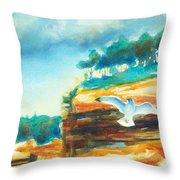 River Cliffs 2 Throw Pillow