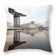 River Clyde Reflections Throw Pillow