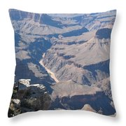 River Deep - Mountain High - Grand Canyon And Colorado River Throw Pillow