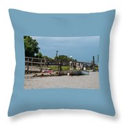 River Dogs Throw Pillow