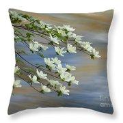 River Dogwood Throw Pillow