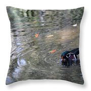 River Duck Throw Pillow