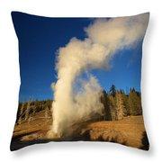 River Eruption Throw Pillow