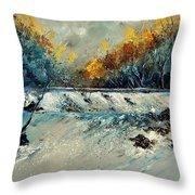 River Fall Throw Pillow