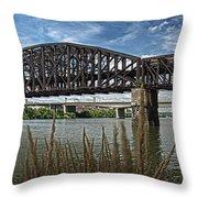 River Ferry Throw Pillow