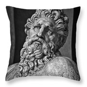 River God Arno Throw Pillow
