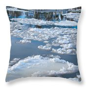 River Ice Throw Pillow